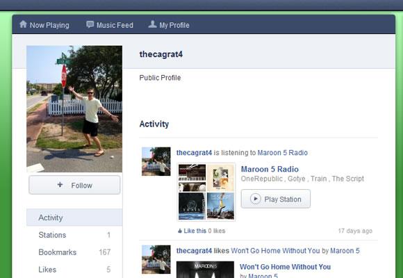 Pandora music radio profiles