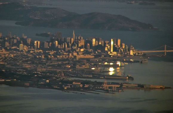 Sunrise over San Francisco Bay, California