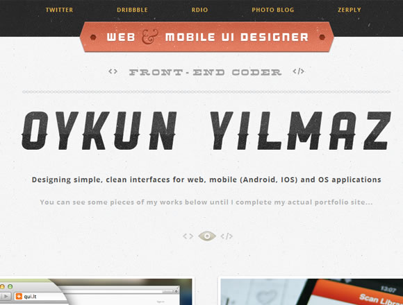 Oykun Yilmaz website design portfolio