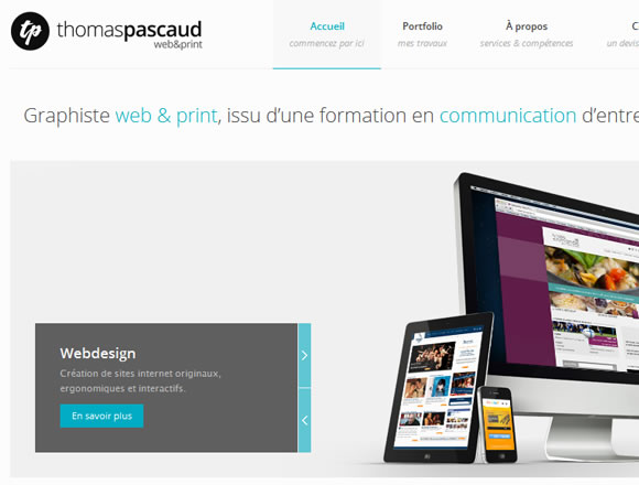 Website portfolio Thomas Pascaud