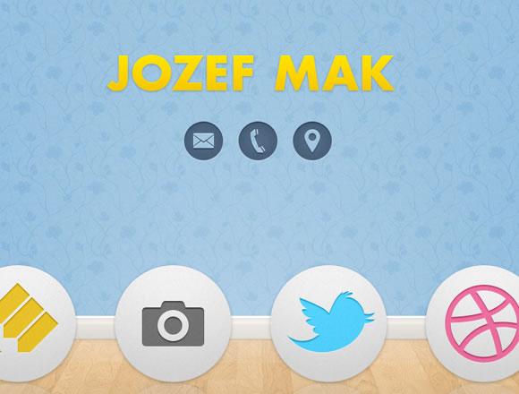 Jozef Mak Dribbble online portfolio freelancer