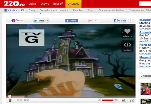 220.ro video streaming Romania