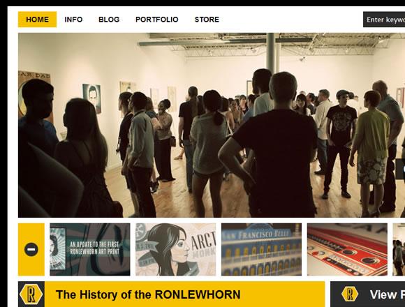 Ronlewhorn online freelance portfolio design