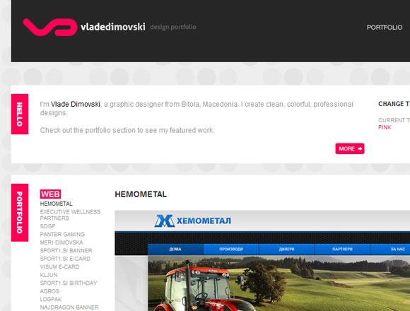 Portfolio website design layout inspiration