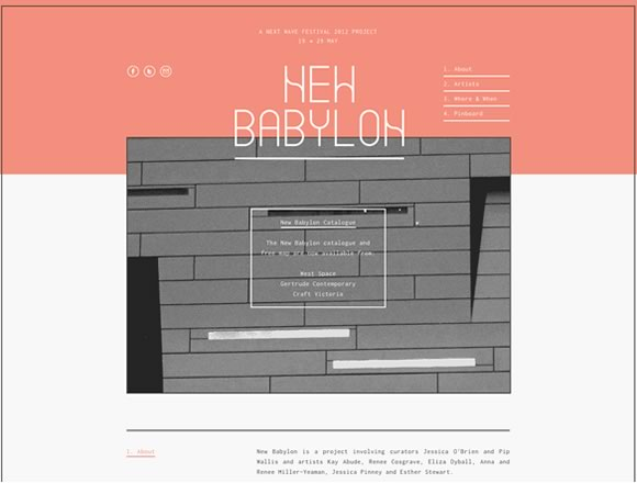 20 Examples of Minimal Style Navigation Menus in Web Design