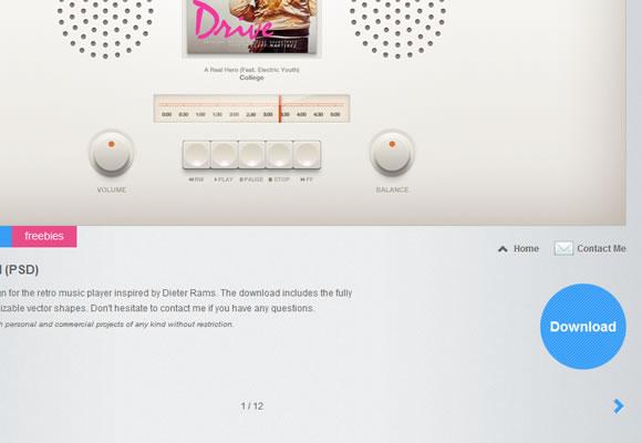 Portfolio layout design freebies download ui