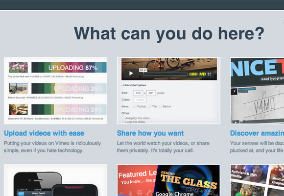 Vimeo home screen featured image