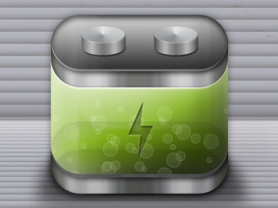 green battery icon for iPhone app