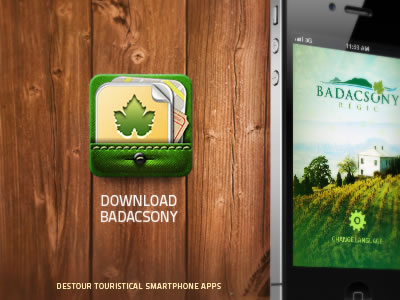 iPhone app website design Badacsony