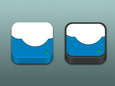 blue cloudapp iphone alternate icon design