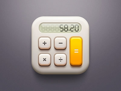 iOS iPhone iPad grey calculator app icon