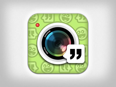 Capagram iPhone iOS App icon green design