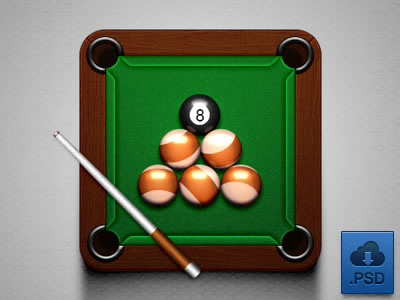 green pool table app icon billiards