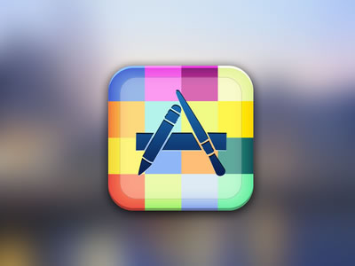 iOS App Store mobile icon design colorful