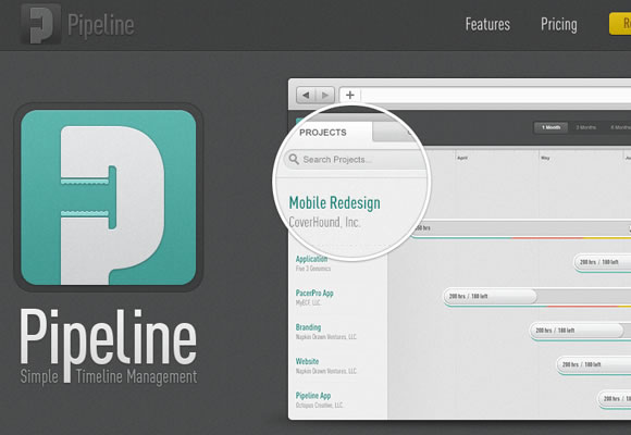 pipeline website single page static top toolbar