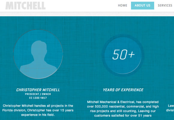 mitchell portfolio mechanical electrical contractors website