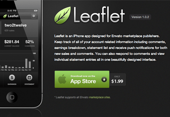 leaftlet iphone ios app design interface ui