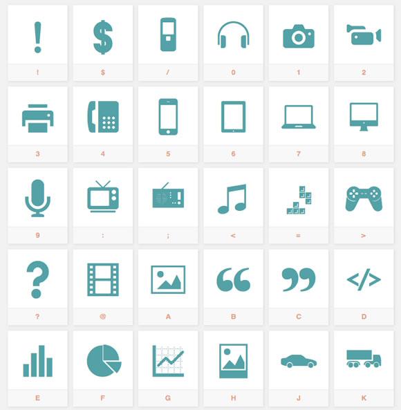 10 Super Useful Free Icon Font Sets