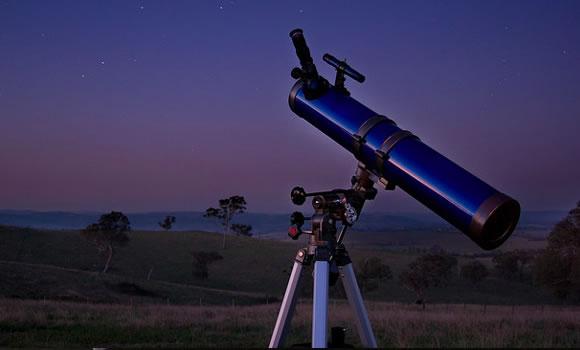 dark night telescope sky stars