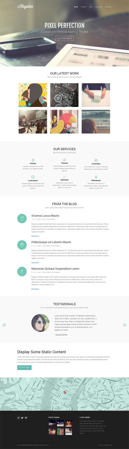 Hayden, A Professional Agency WordPress Theme