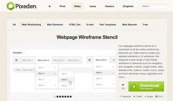 10 Free UI Wireframe Kits