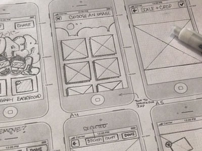 UI & Wireframe Sketches to keep you Inspired