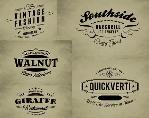 30 Free Vintage Logo Templates - Web Design Ledger