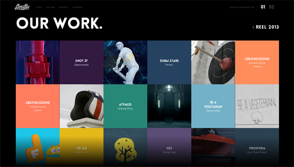 Magnificent 20 Creative Examples Of Square Elements In Web Design Web Design Short Hairstyles Gunalazisus