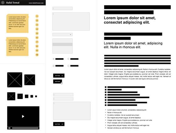 UI and Wireframe Kits