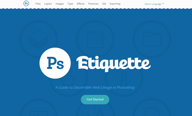 photoshop etiquette header web design