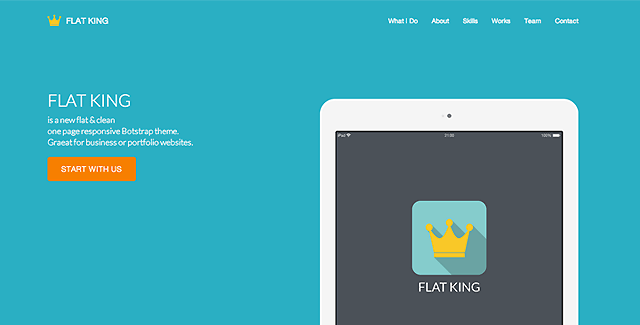 Flat King - One Page Template