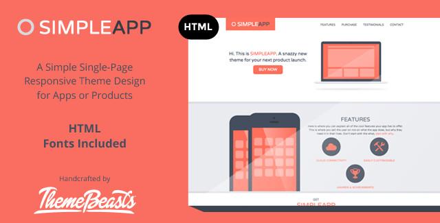 SimpleApp - App Landing Page