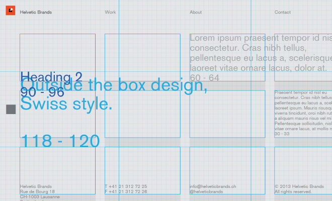 wireframe grid website portfolio concept
