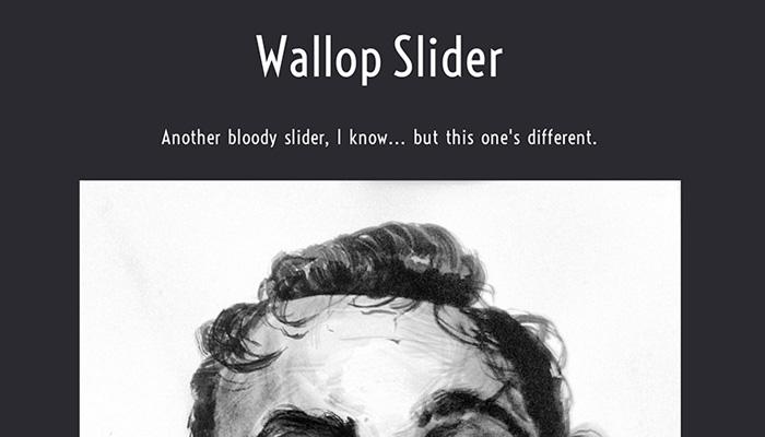 wallop slider open source javascript