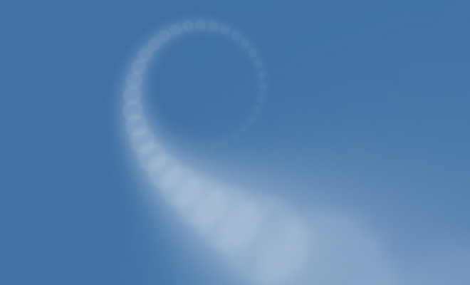 cloudy spiral effect css3 open source