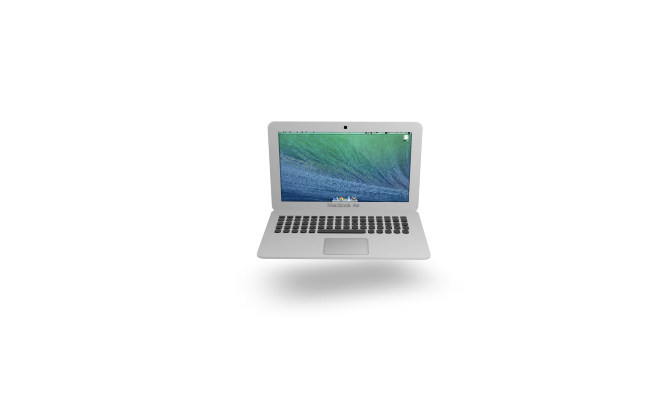 css3 macbook air icon animated movable