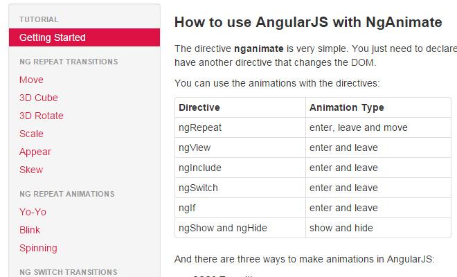 nganimate angular js open source