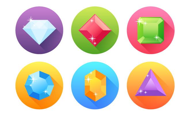flat precious gem tutorial illustrator