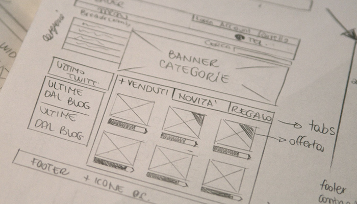 sketch pencil wireframe prototype layout