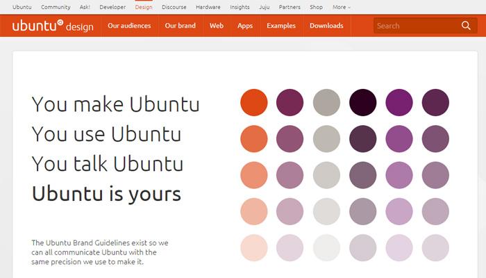linux ubuntu style guide homepage