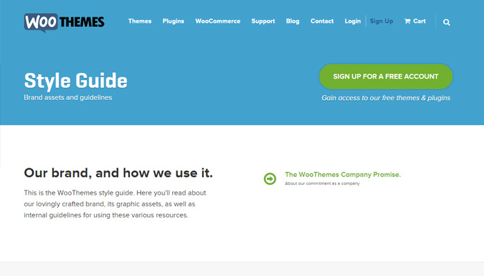 woothemes wordpress themes style guide