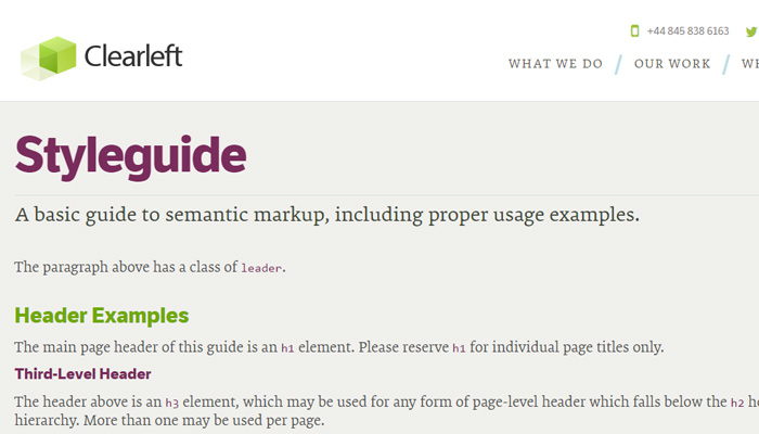 clearleft style guide website design