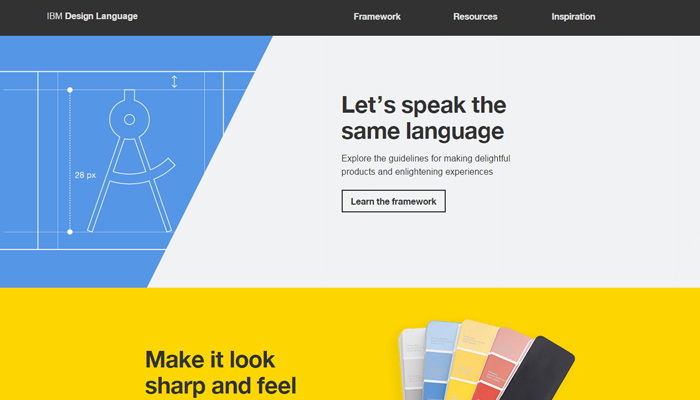 ibm design language website