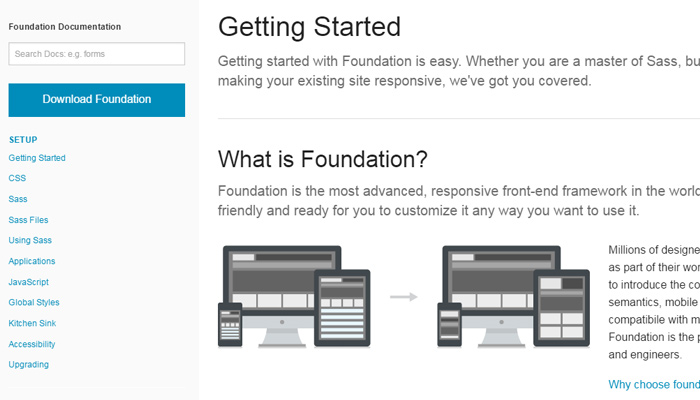 zurb foundation style guide