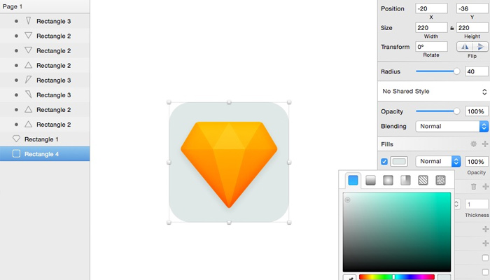 create a flat diamond icon sketch vector