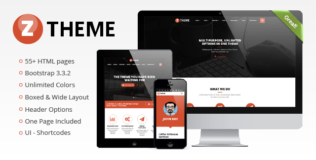 ZTheme - Multipurpose Responsive Template
