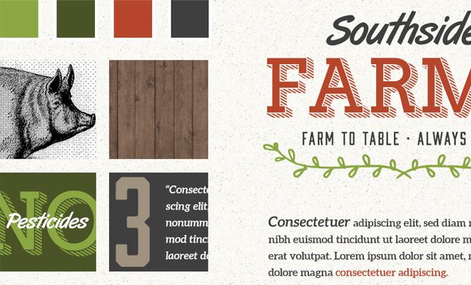 southside farms retro style tile