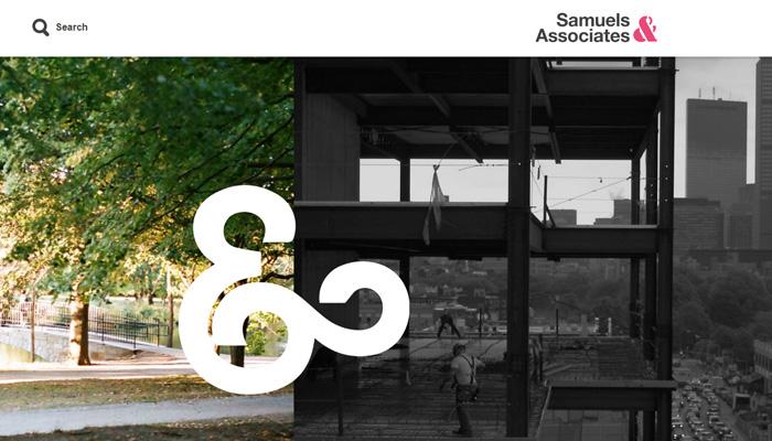Samuels associates web sitesi ana sayfası