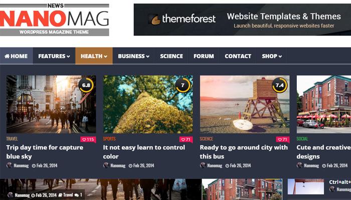nanomag magazine wordpress theme
