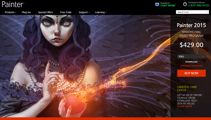 corel painter software website